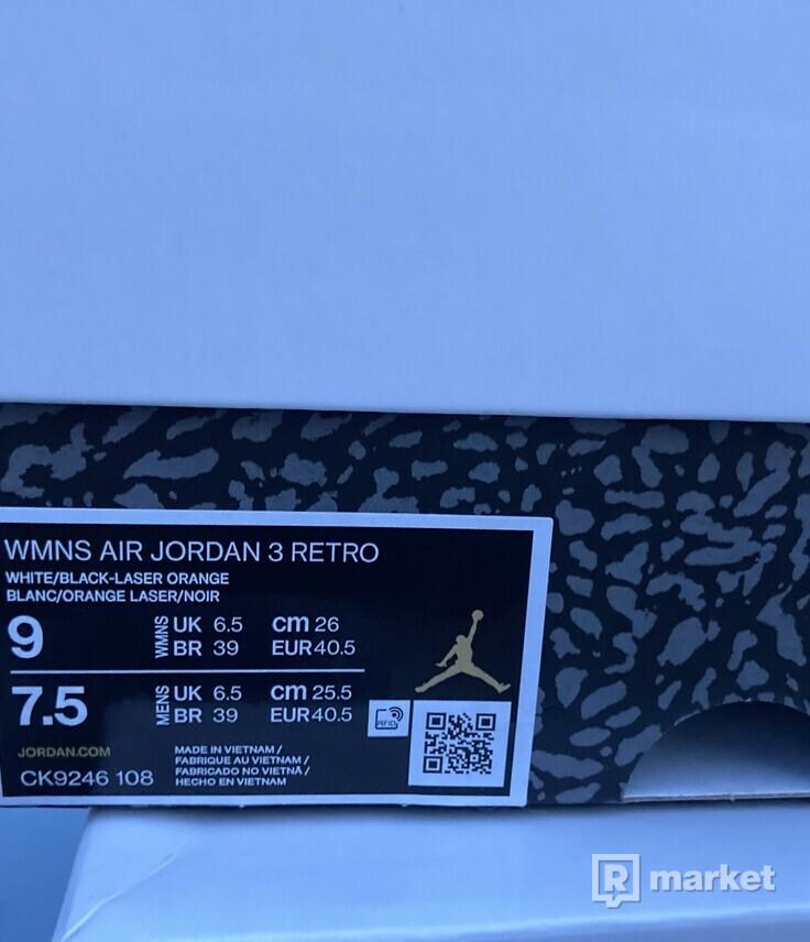 Air Jordan 3 Laser Orange