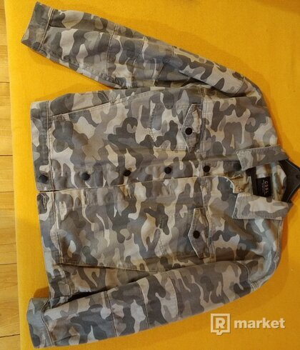 Rifľová bunda CAYLER & SONS C&s BL ALLDD DENIM TRUCKER JACKET Camo Grey