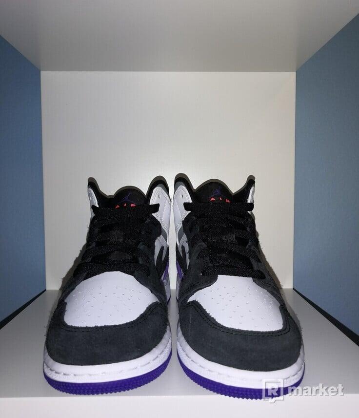 Jordan 1 Mid SE Purple (GS) 36, 38