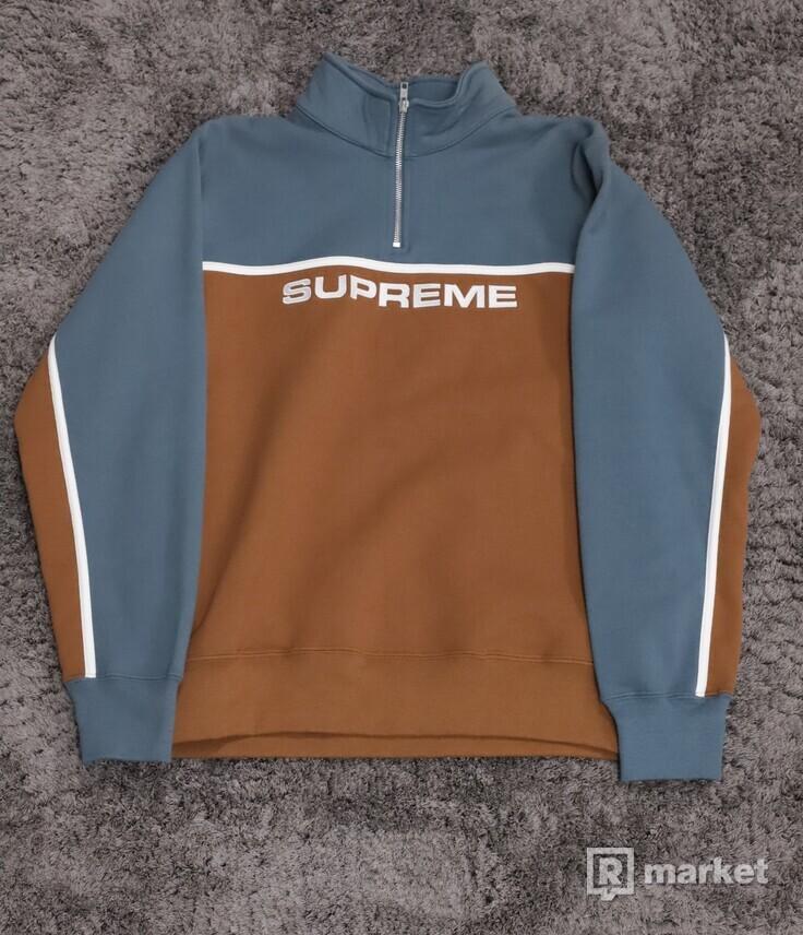 Supreme 2-Tone Half-Zip Sweatshirt Rust
