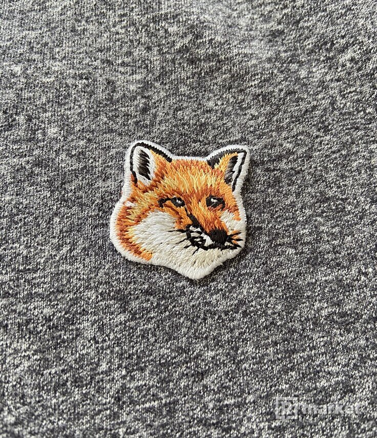 Maison Kitsuné tričko s našivkou líšky S