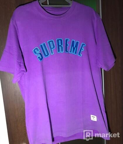 Supreme printed arc s/s top purple