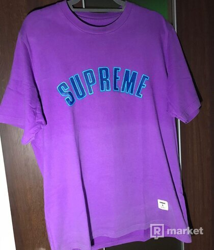 Supreme printed arc s/s top purple