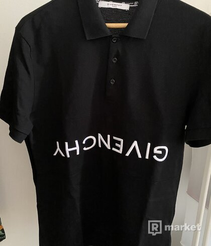 Givenchy logo polo shirt upside down logo