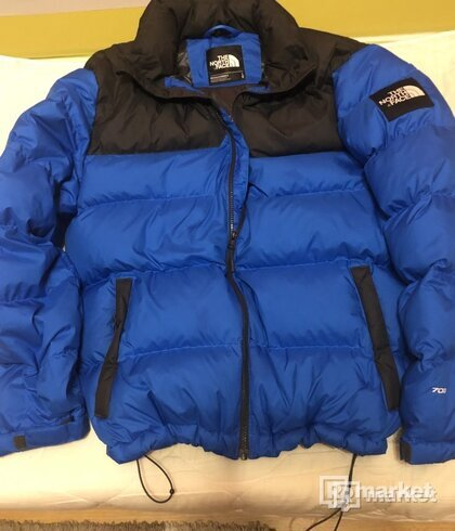 The North Face Nuptse jacket blue