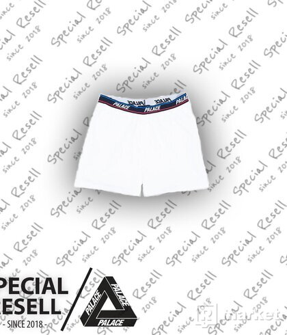 PALACE BOXERS WHITE NAVY BLACK