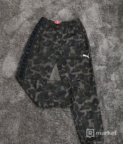 Bape x Puma Sweatpants Camo Black