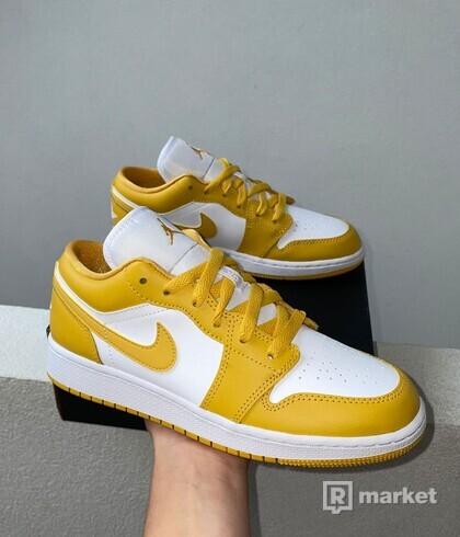Jordan 1 low Yellow White