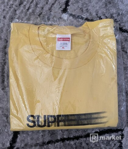 Supreme motion logo tee yellow
