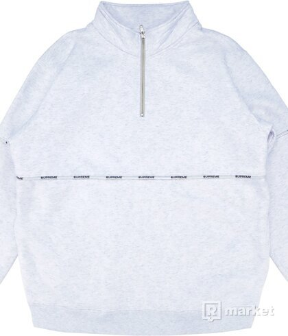 Supreme Logo Piping Half Zip Sweatshirt