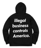 Supreme Illegal business controls America hoodie Supreme Jellyfish Tee