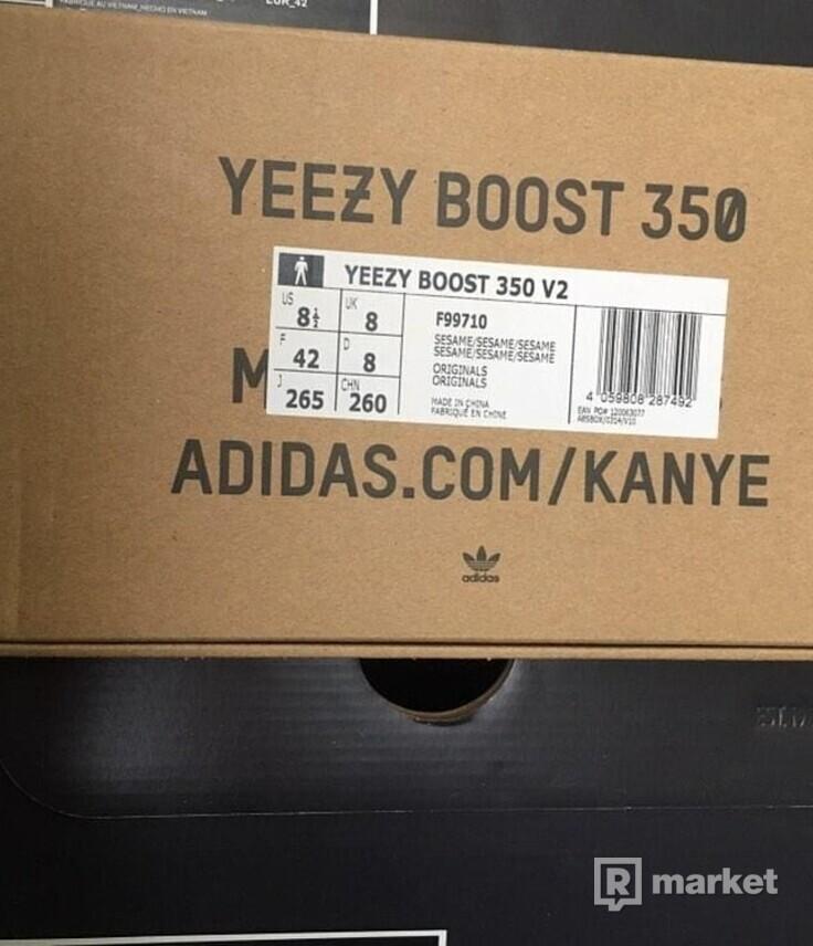 Adidas Yeezy Sezame V2