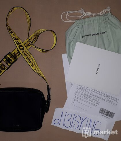 OFF-WHITE BRANDED STRAP CROSSBODY BAG
