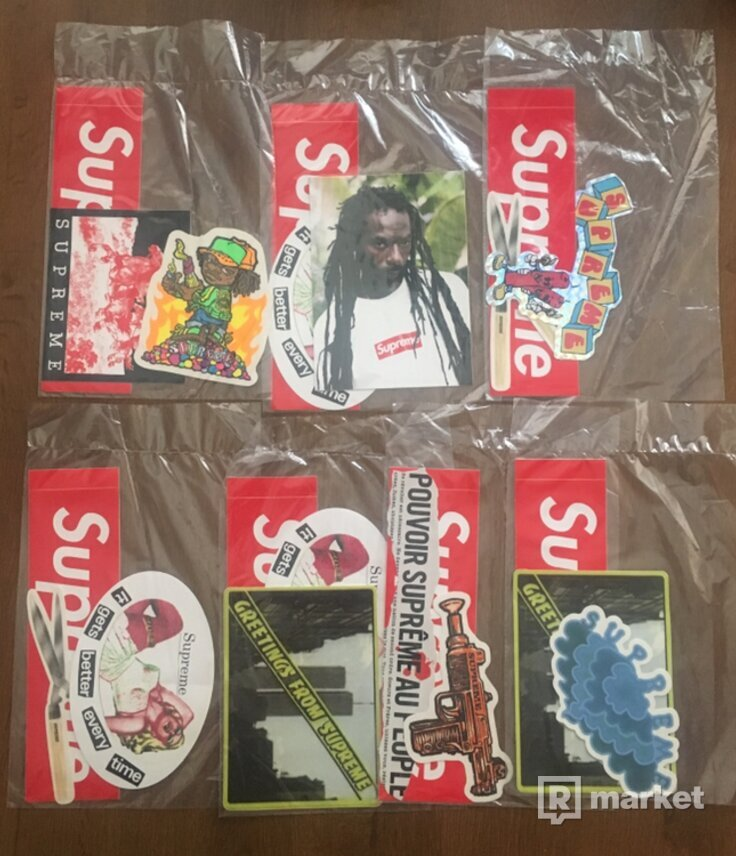 SUPREME stickers packs