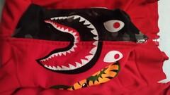 Bape shark hoodie red/camo full zip