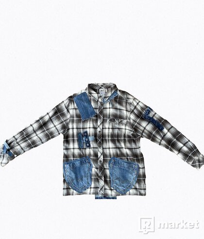 Denin & Flannel Shirt
