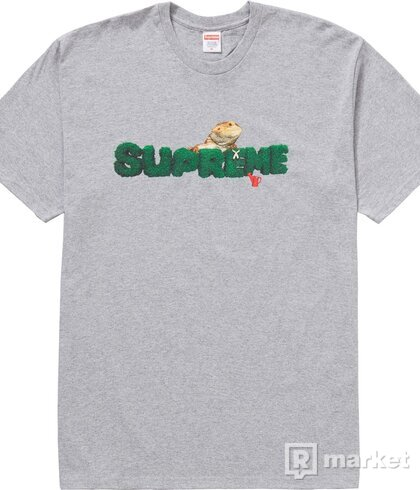 Supreme Lizard T-SHIRT heather grey L