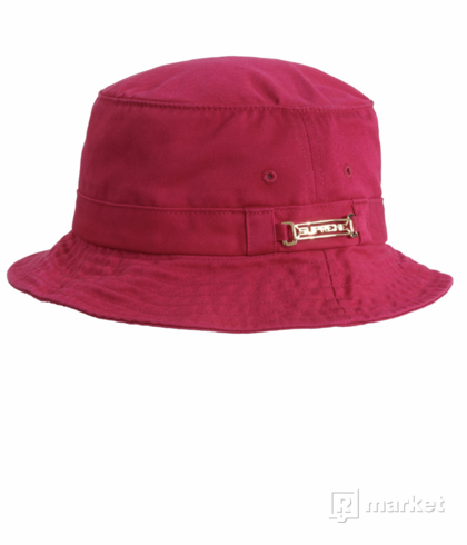Supreme name plate bucket hat