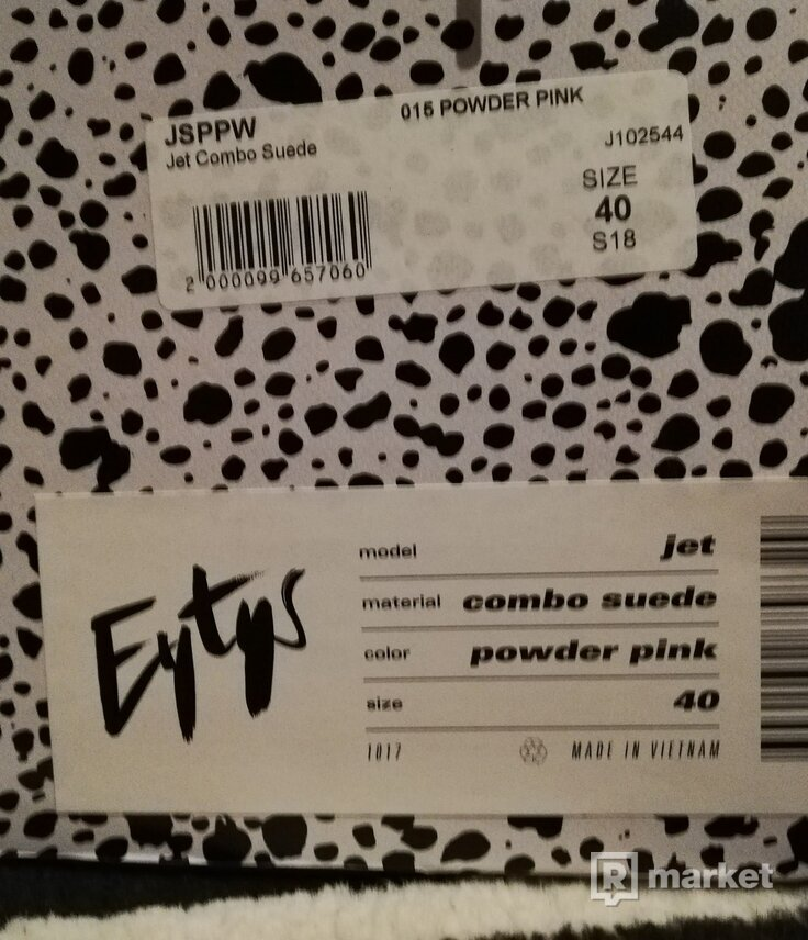 Eytys - jet combo suede powder pink - veľkosť 40