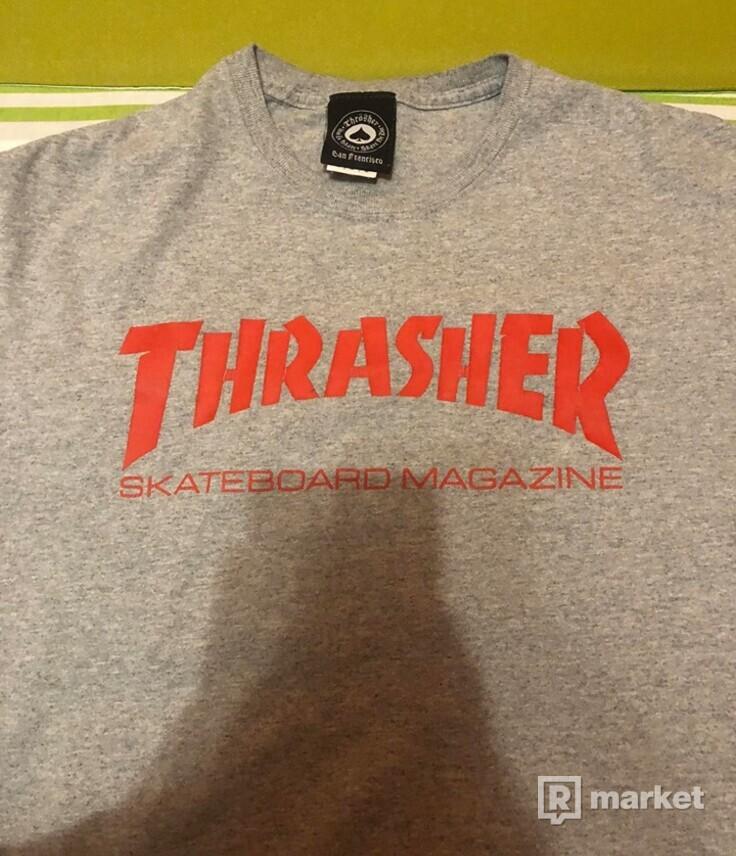 Thrasher Skate mag tee grey