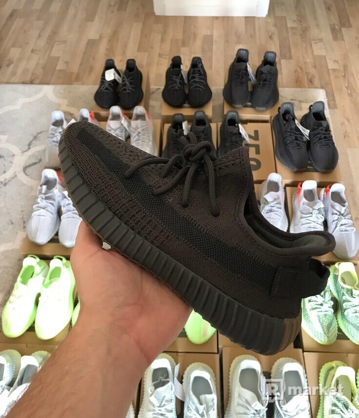Adidas Yeezy Boost 350 V2 Black / Cinder / Cloud white / Glow / Tail light  / Yeezreel RF
