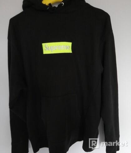 Supreme Box logo hoodie lime/green