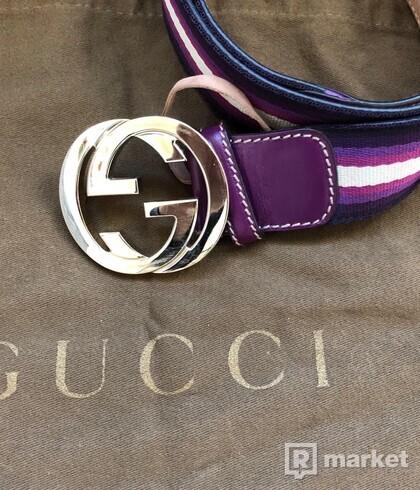 Gucci purple belt