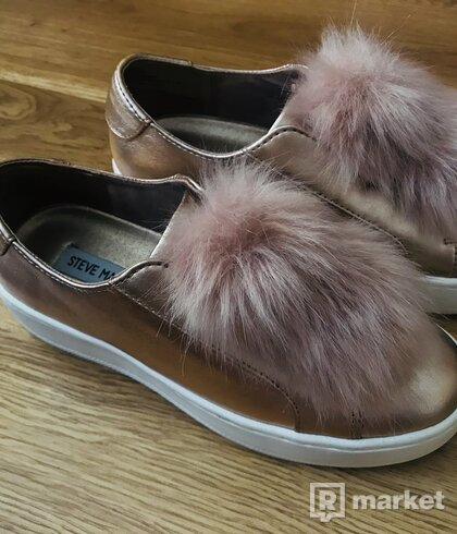 Dámske topánky slip-on Steve Madden v rose gold farbe veľkosť 37