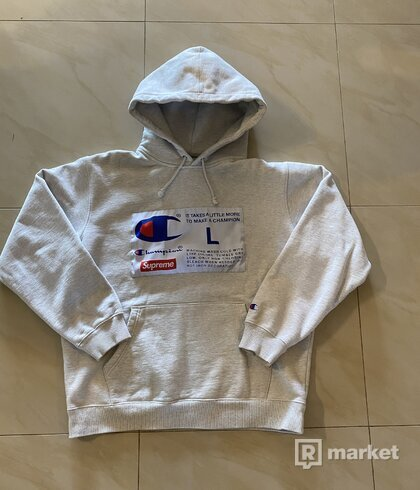 Supreme x Champion Label hoodie