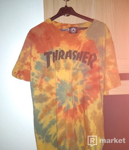 Tie dyed Thrasher tee