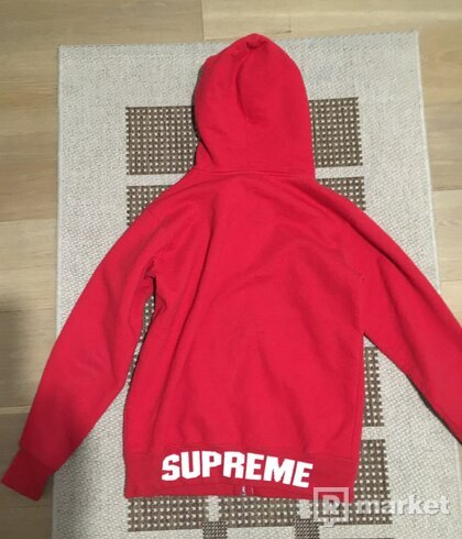 SUPREME ZIP UP LOGO HOODIE STEAL!!!!!!
