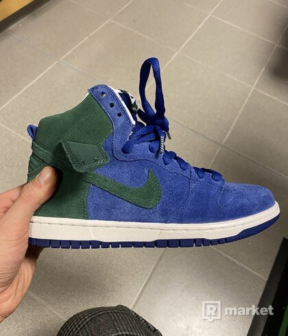 Nike Dunk High royal deep green 2011