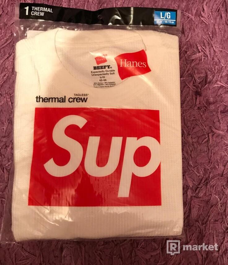 Supreme/Hanes Thermal Crew