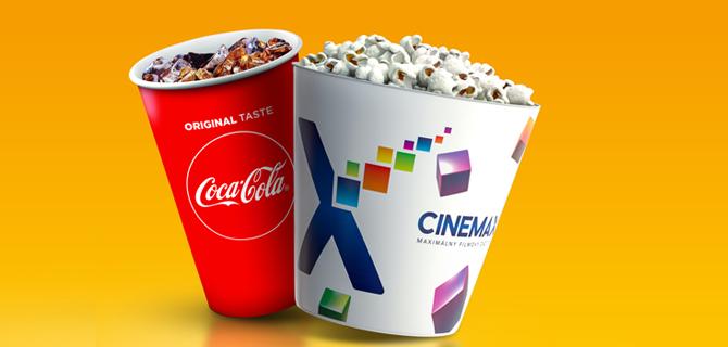 POPCORN COMBO KLASIK k lístku v sieti kín CINEMAX