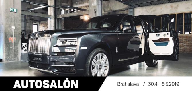 Vstup na autosalón v Bratislave (30.4. - 5.5.2019)